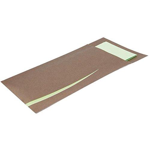 europochette cp717Bari braun Besteck Tasche mit Serviette (125Stück)