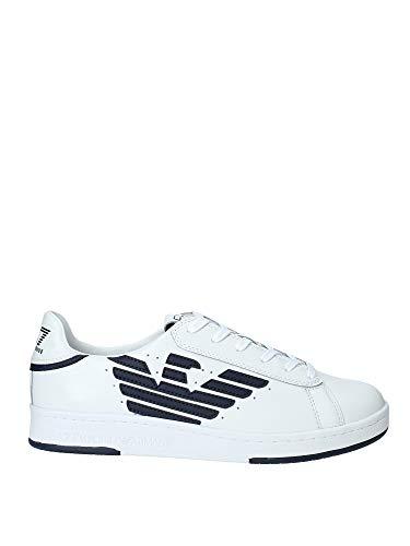 Emporio Armani EA7 Millenium U Sneaker Herren Weiss - 42 - Sneaker Low