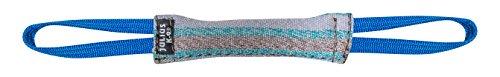 Julius K9 18422-2 18422-2, Beisswurst, Baumwolle-Nylon, 20 cm*3 cm, mit zwei Schlaufen, außen genäht (Große Nylon-dummy)