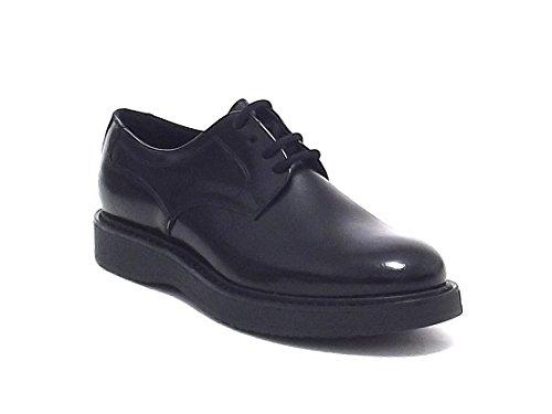 Soldini donna, 19040, scarpa stile inglese in pelle , colore nero