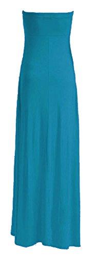 Fast Fashion – De Maxi Robe Plus Plaine Taille Knot Bow Bustier L'avant - Femmes Turquoise