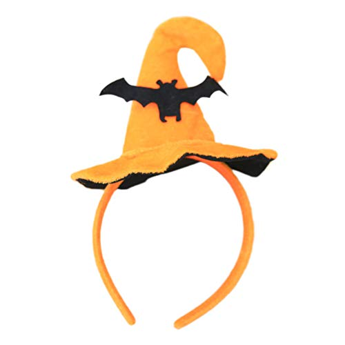 Toyvian Halloween Stirnband Kinder Fledermaus Form Haarband Kopfbedeckungen Halloween Dance Party Cosplay Hair Dress-up (Fledermaus-kopfbedeckung)