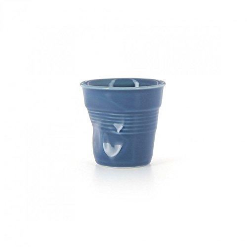 Revol - Gobelet froissé Bleu Outremer 8cl