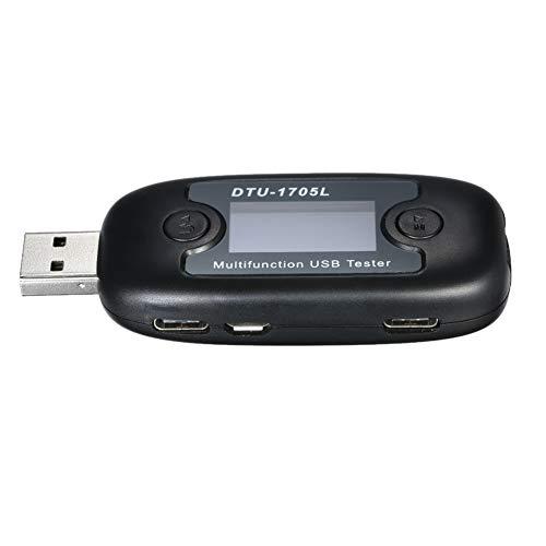 Nrpfell Multifunktionaler Spannungsstrom USB-Tester LCD-Display Datenprotokollierung Stromzaehler Voltmeter Amperemeter mit Schnelllade-Trigger Schneller Lade- / Protokoll-Decoy Decoy Usb