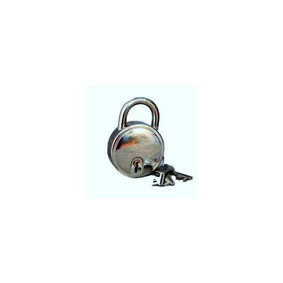 Godrej 8149 Steel Round Padlock Set (Silver, 4-Pieces)