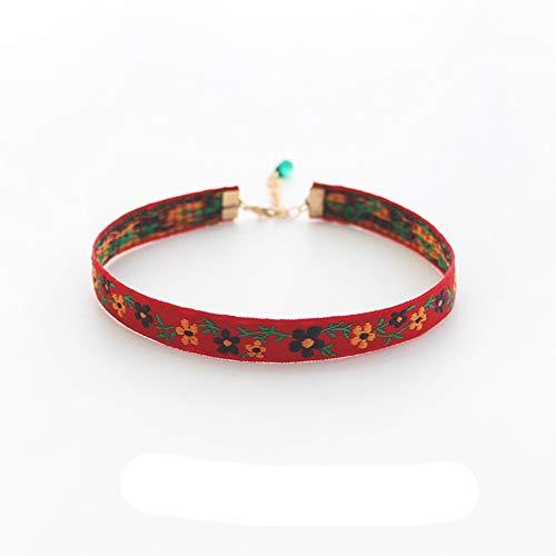 CLY necklace Halskette Im Ethno-Stil Schmuckhalsband Mit Schlüsselbeinkette