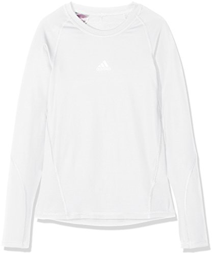 adidas Kinder Alphaskin Longsleeve Funktions Shirt, White, 164