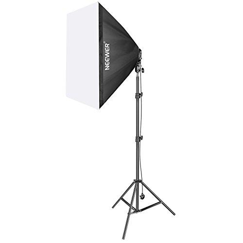 Neewer 800W Foto Studio Video Softbox Beleuchtung Kit beinhaltet: (1) Softbox,: 50x 65(1) 4Teelichthalter, (4) 45W Glühlampe, (1) 200cm Light Stand, (1) Tragetasche (UK)