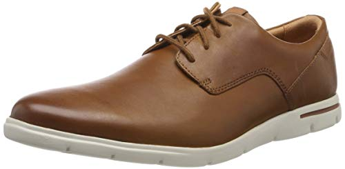 Clarks Herren Vennor Walk Derbys, Braun (Tan Leather), 44 EU