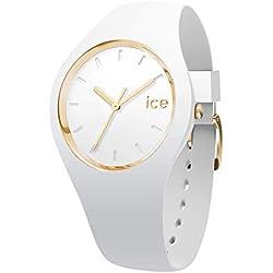 Ice-Watch - Ice Glam White - Montre Blanche pour Femme avec Bracelet en Silicone - 000917 (Medium)