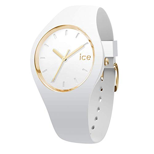 Ice-watch - ice glam white - orologio bianco da donna con cinturino in silicone - 000917 (medium)