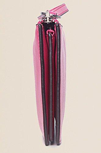 Longzibog Dual verstellbare Schultergurte und Hängeschlaufenband Mode geldbörse damen lang Erdigen Gelb