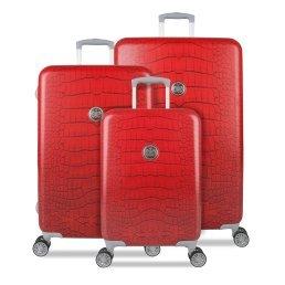 SUITSUIT léger Spinner valises Rouge Rouge à lèvres Crocodile – Lot de 3 cases 20, 24, 71,1 cm – Plus Beau Perry Sac pour la vie
