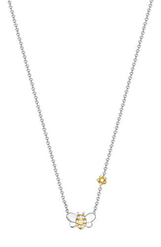 Esprit Kinder-Erbskette JW50258 925 Silber rhodiniert Zirkonia weiß Rundschliff 34 cm - ESNL93395D340