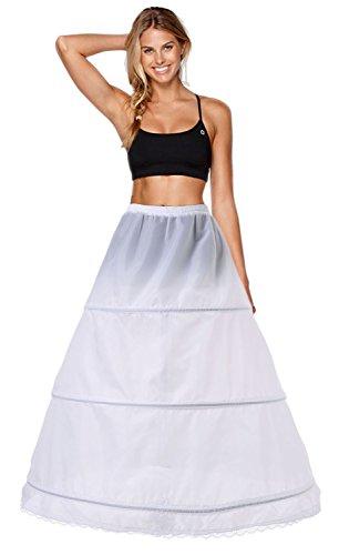Babydress® sottogonna sposa sottogonna crinolina cerchi sottogonna sottoveste da sposa abiti da sposa 3 cerchio sottovesti e sottogonna sottoveste wedding petticoat sottogonne da donna (42, bianca)