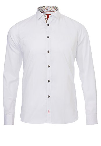 Pure - Chemise business - Homme Uni weiß