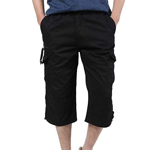 Modaworld Shorts Männer Baumwolle Multi-Pocket Overalls Shorts Mode Hose Kurze Hose Cargo Shorts -