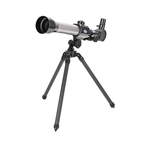 Sisit Telescopio de Ciencia,Telescopio de Aumento 20X-30X-40X,Telescopio Portátil para Niños y Principiantes,con Trípode 3 Oculares
