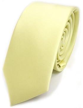 TigerTie - corbata estrecha - amarillo pálido amarillo de azufre monocromo poliéster
