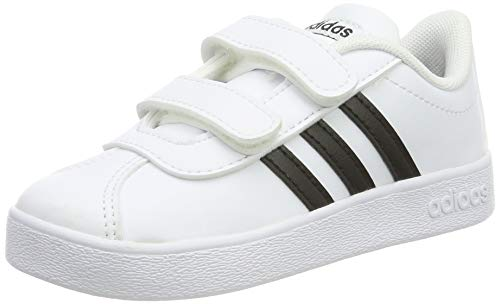 adidas VL Court 2.0 Cmf I I, Scarpe da Ginnastica Basse Unisex-Bimbi 0-24, Bianco Cblack/Ftwwht 000, 26 EU
