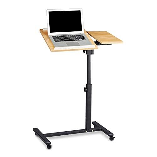 Relaxdays Laptoptisch höhenverstellbar HBT 95 x 60 x 40 cm Notebook Ständer auch für Linkshänder...