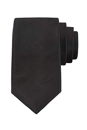 Royal Suits | Goldkollektion | Luxuriöse Seiden-Krawatte in Schwarz für alle Anlässe inkl. einzigartiger Geschenkverpackung - Schwarze Seide Krawatte