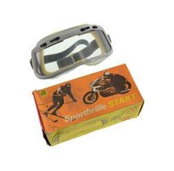 Motorradschutzbrille - Original DDR-Sportbrille - MARKE: START - mit einstellbarer Belüftung, Einzelkarton