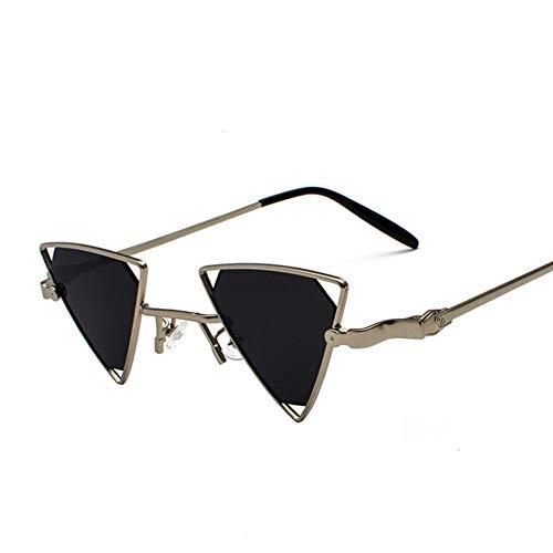 BCD Damen-Sonnenbrille Dreieck Hohlmetall-Punk-Wind Eine Piece Farbe transparente Sonnenbrille Männer und Frauen Modelle uv400,10