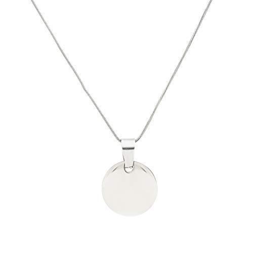 d7e1cf56021e SAVILE Collar para Mujer Medalla Circular grabable en Plata de 925