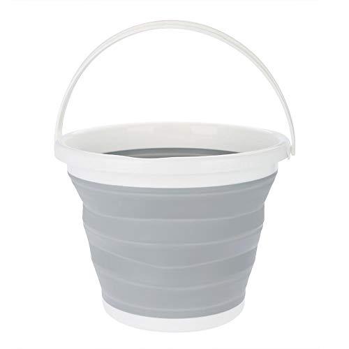 GOTOTOP 10L zusammenklappbarer Eimer Plastikeimer Tragbarer Camping Wasser Eimer, Faltender Eimer für Haushalts-Reinigung Outdoors Fischen Camping, 32 * 25cm