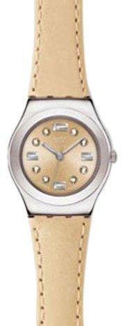 Swatch YSS226 - Orologio da polso da donna, cinturino in pelle colore beige