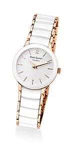 Pierre Lannier 014G900 - Reloj analógico de cuarzo para mujer, correa de cerámica color blanco de Pierre Lannier