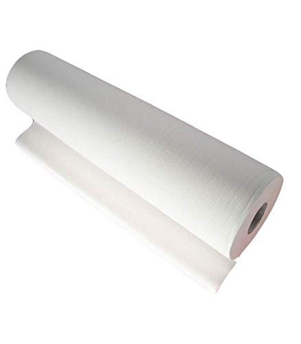 Trade shop - rotolo carta lenzuolo monouso pretagliato 80x60cm per lettino estetista medico - 010759