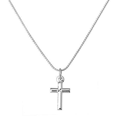 Collier et Pendentif Petite Croix en Argent 925/1000 - 56cm