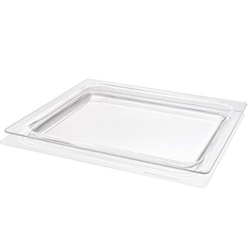 Schott Back- & Servierschale aus robustem Borosilikatglas - zum Backen, Kochen, Braten, Grillen - Made in Germany - 38x32cm - Gas-arbeitsplatte-ofen