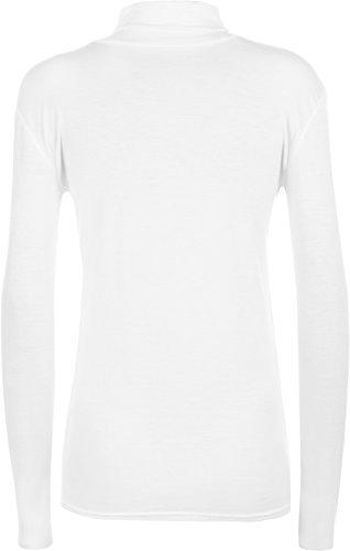 WearAll - Pull à manches longues et à col roulé - Hauts - Femmes - Tailles 36 à 42 Blanc