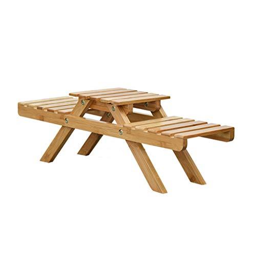 LY-LD Massivholztisch Tischständer Blumenständer 2-lagig Pflanzenständer Wohnzimmer Einfacher Erkerfenster Badezimmer Multifunktions-Ablagekorb
