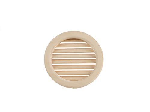 Eliga - Griglia di ventilazione rotonda con listelli in legno inclinati