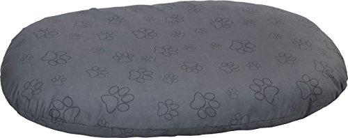 Grau Ovale Matte (TrendPet Sally Grau - Ovales Liegekissen für Weidekörbchen Hundekissen (100x65cm))