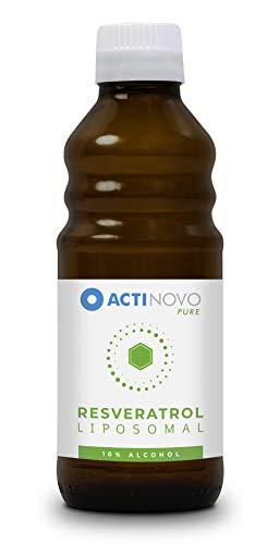 Liposomales Resveratrol   hochdosiertes Polyphenol   Pflanzliche Antioxidation   250 ml - 10% Alkohol   Tagesdosis 200 mg Resveratrol   hohe Bioverfügbarkeit   flüssig   ohne Zusätze   vegan