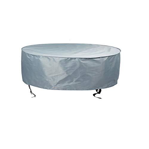 Hentex Cover Runde Garten Whirlpool Abdeckung, Wasserdicht Schutz vor Wind UV schützende dunkelgrau (Durchmesser Ø 200cm x Höhe 85cm) - Runde Und Garten Runde