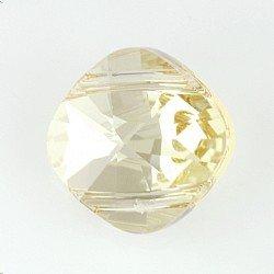 2�foro quadrato perline Swarovski Golden Shadow * Qty 1