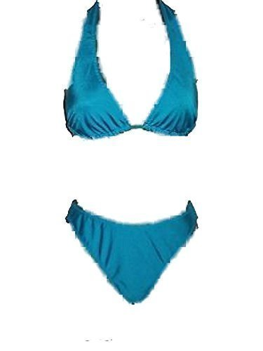 BEAUTIFUL LADIES EX PER UNA M & S - TURQUOISE HALTERNECK for sale  Delivered anywhere in UK