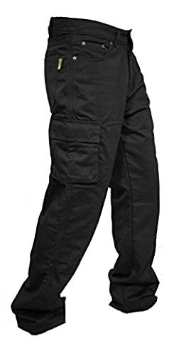 Mens Denim Protective Motorcycle Motorbike Work Trouser Jeans Cargo with Aramid Protection Lining