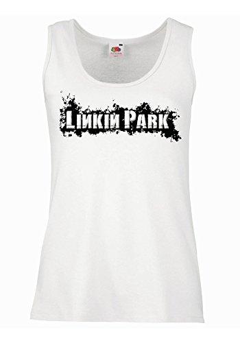 "Canotta Donna ""Linkin Park - Spray"" - 100% cotone LaMAGLIERIA, XL, Bianco"
