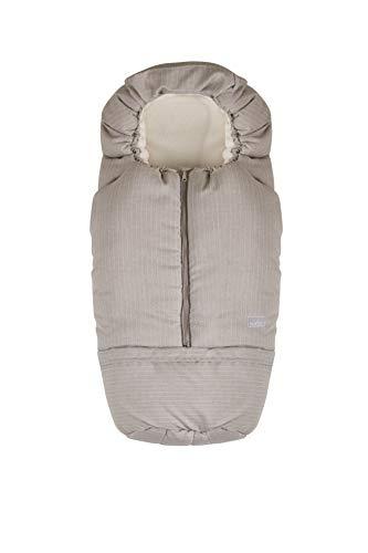 Nuvita 9845 Junior Carry On - Sacco Termico Universale per Carrozzina, Ovetto, Seggiolino Auto e Passeggino.Ideale per neonati,bimbi e bambini (Pinstripe Beige - Beige)