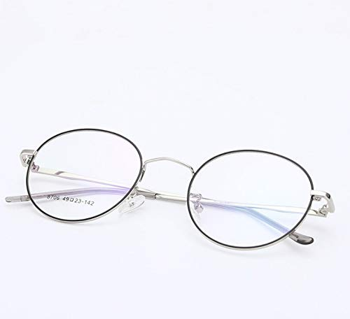 Anti-blu-ray Retro Glasses Frame Student Metal Optical Frame Flat Mirror Round Glasses Frame A