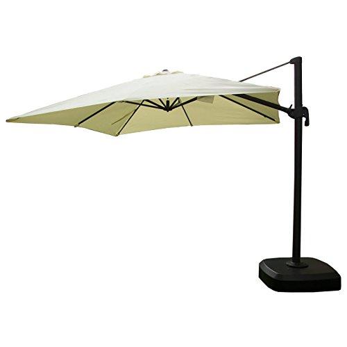 Edenjardi Parasol de jardín descentrado con mástil...