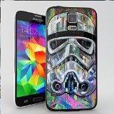 Star Wars Stormtrooper Pop Art Coque pour iPhone et Samsung Galaxy Samsung Galaxy S5(Noir)