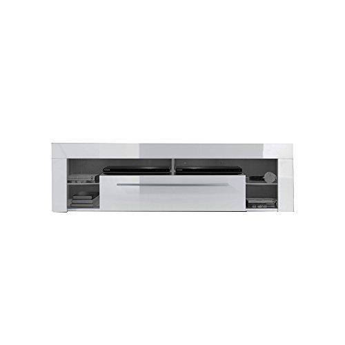 trendteam SC85001 TV-Möbel Lowboard, Weiß Hochglanz